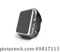 digital smart watch or clock with icons 3d render 60837313