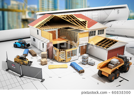 construction concept House in building process 60838300