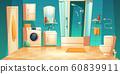 Modern bathroom interior with furniture cartoon 60839911