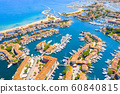 View Of Colorful Houses And Boats In Port Grimaud During Summer Day-Port Grimaud, France 60840815