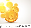 Golden coin bitcoin sign. Money and finance symbol Cryptocurrency coin bank concept. Bitcoin icon 60841862