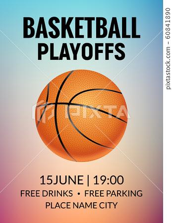 Basketball poster sport flyer. Vector basketball tournament league template background design 60841890