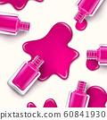 Nail polish beauty paint drop. Cosmetic bottle makeup polish nail or manicure design 60841930