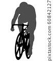 자전거 경기의 실루엣 60842127