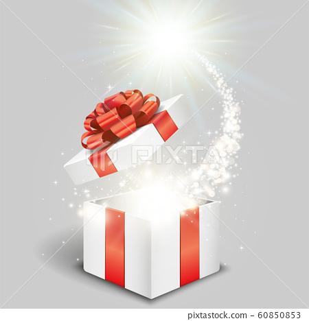 白色禮品盒和特殊禮物 60850853