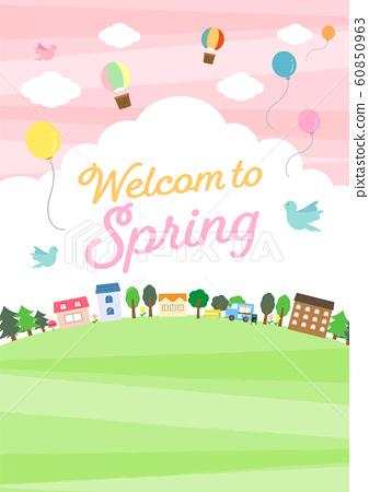 房屋與自然景觀(春季) 60850963