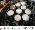 Thai dessert, Khanomkhrok coconut pudding, sweetmeat kind 60858691