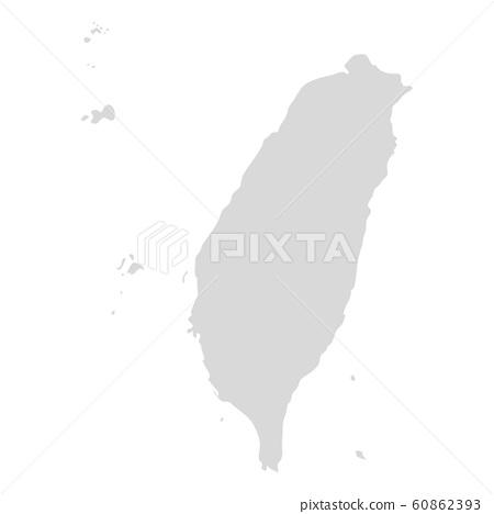 Taiwan vector map icon. Taiwan country map island region illustration 60862393