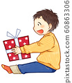 男孩禮物線圖可用 60863306