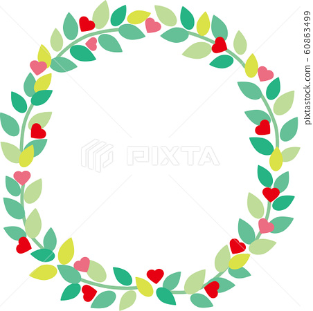 Wreath of leaves and heart 60863499