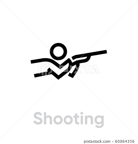 Shooting sport icons 60864356
