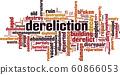 Dereliction word cloud 60866053