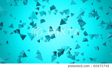 CG 트라이앵글 부유하는 다수의 삼각뿔 60875748