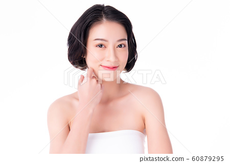 Beautiful Young Asian Woman with Clean Fresh Skin. 60879295