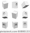 Washing machine 3D Rendering 60880133