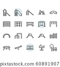 Playground icon and symbol set in outline design 60891907