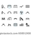 Playground icon and symbol set in glyph design 60891908