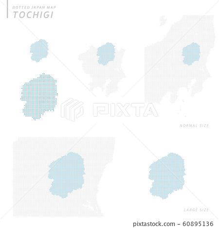 dotted Japan map, Tochigi 60895136