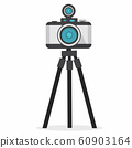 retro photo camera  with tripod 60903164