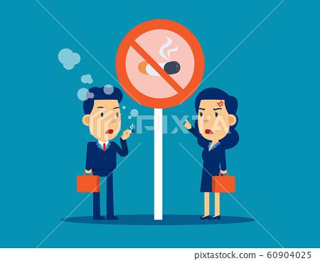Bad person character smoking under signal no 60904025