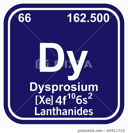Dysprosium Periodic Table of the Elements Vector 60911728