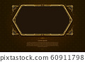 gold frame circle border picture and pattern gold 60911798