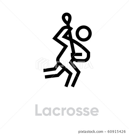 Lacrosse sport icon 60915426
