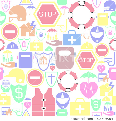 safety seamless pattern background icon. 60919504