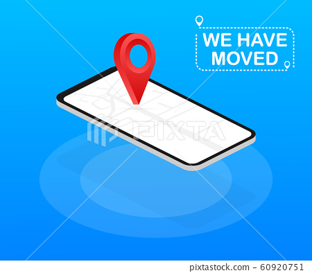 We have moved. Moving office sign. Clipart image 60920751
