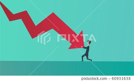 Businessman bankrupt recession loss business 60931638