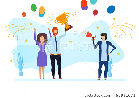 Business team success vector reward illustration 60931671