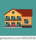 House vector building real estate icon isolated. 60932036
