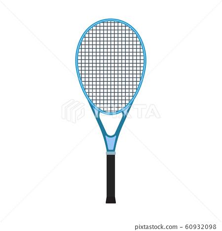 Tennis racquet sport game equipment vector flat 60932098