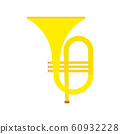 Horn instrument vector icon musical classical 60932228