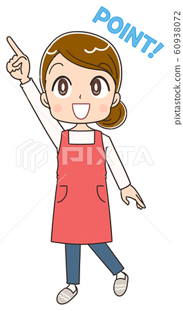 Housewife female apron illustration material 60938072