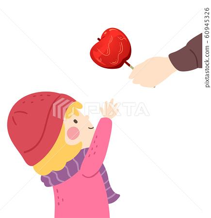 Kid Girl Sugar Apple Illustration 60945326