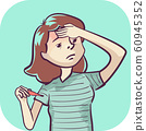 Woman Symptom Fever Illustration 60945352