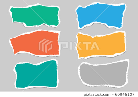Vector of ripped paper. The paper was ripped 60946107