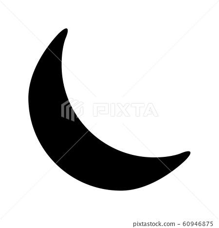 crescent moon silhouette vector symbol icon 60946875