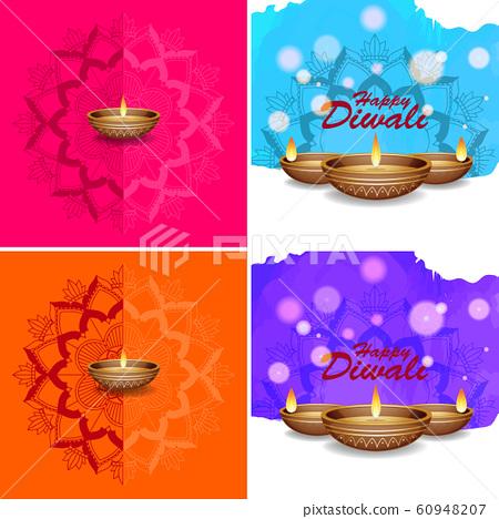 Background Template With Mandala Designs Stock Illustration 60948207 Pixta