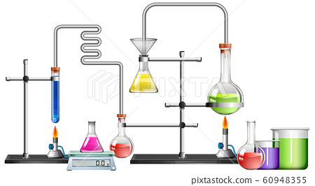 Science lab with many equipments 60948355