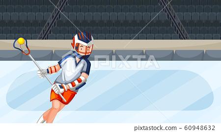 Background scene with athletes doing ice hockey 60948632