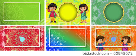 Background template with mandala designs 60948675