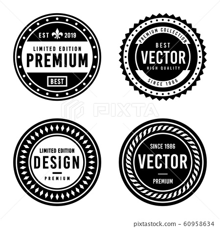 Premium Vintage Badge Design Set 60958634