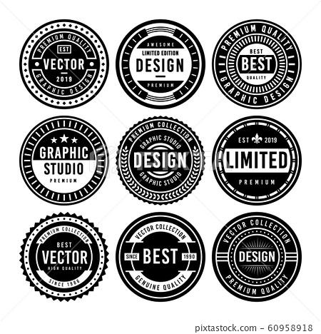 Premium Vintage Badge Design Set 60958918