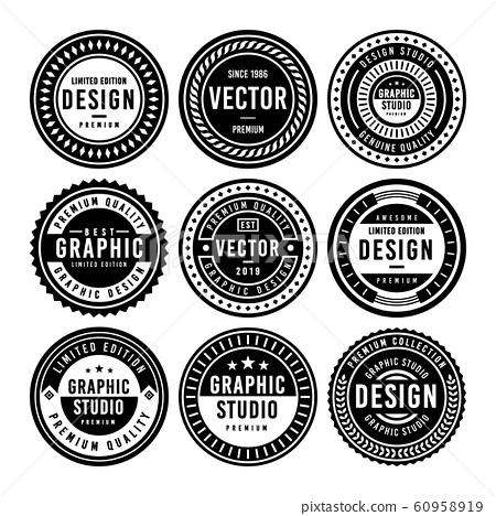 Premium Vintage Badge Design Set 60958919