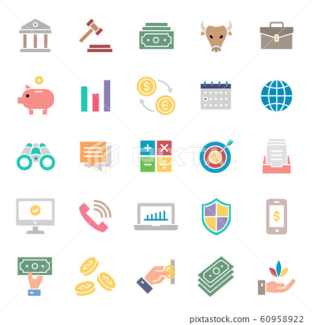 stock icon set. 48 x 48 pixels complete.	 60958922