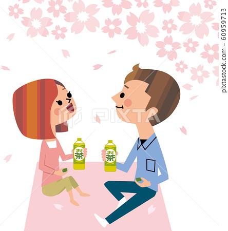 커플 꽃놀이 60959713
