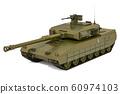 Battle tank, 3D rendering 60974103