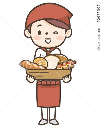 麵包店女店員 60975397